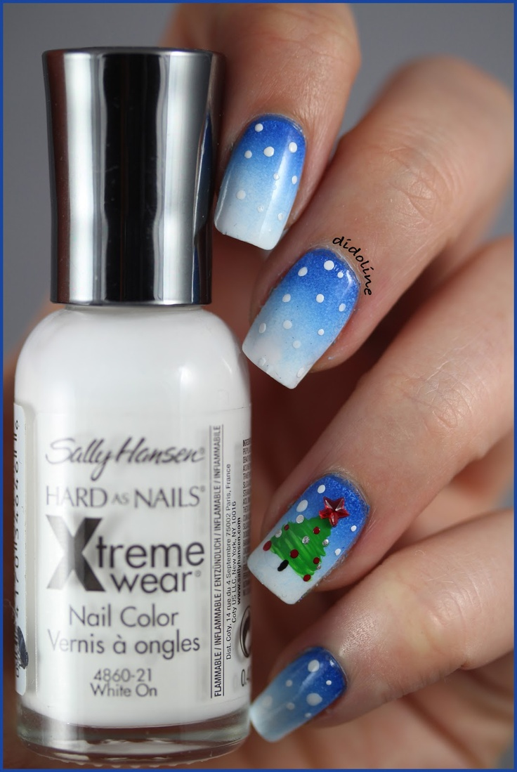 nail-art-natale-blu