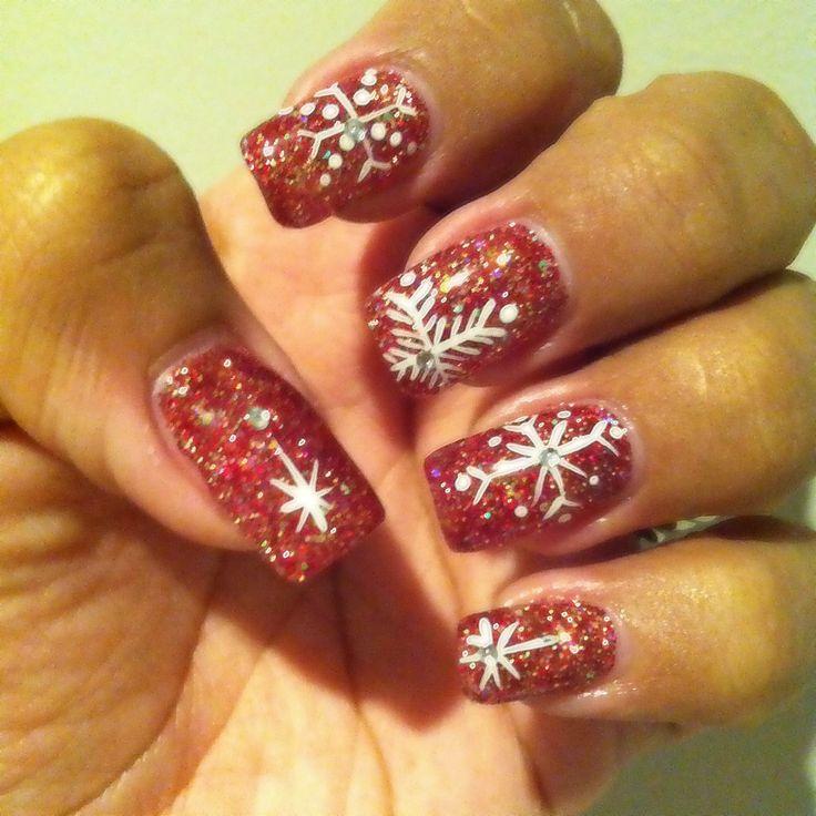 nail-art-glitterata-rossa
