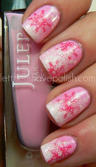 nail-art-natale-rosa