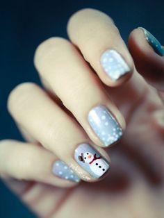nail-art-pupazzo-neve