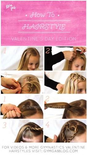 Acconciature con cuori per San Valentino