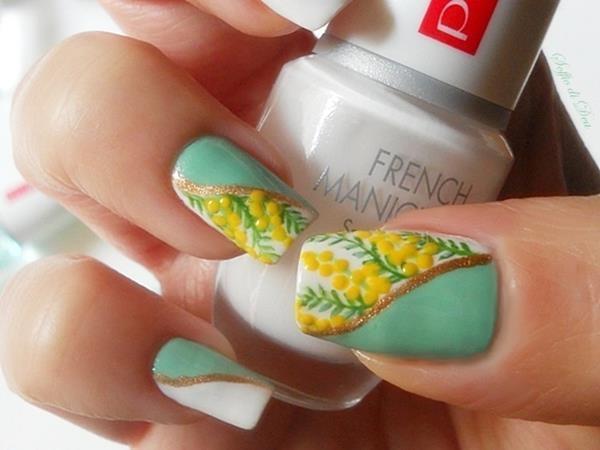 Nail art per la festa della donna (con mimose)
