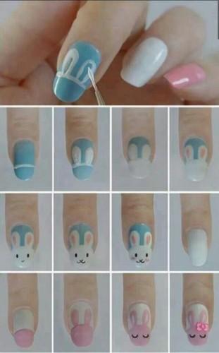 Nail art di Pasqua con coniglietto (tutorial)
