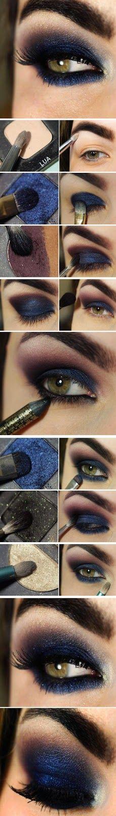 Come truccare gli occhi con il blu